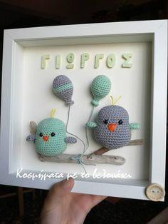 crochet birds Crochet Wall Art, Crochet Box, Crochet Baby Toys, Crochet Birds, Crochet Patterns Amigurumi, Cute Crochet, Crochet Crafts, Crochet Dolls, Crochet Projects