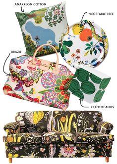 Women's Purses : The House That Lars Built - an artful life - Fashion Inspire Home Textile, Textile Design, Joseph Frank, Cute Aprons, Inspirations Magazine, Bohemian Decor, Boho, Womens Purses, Eclectic Decor