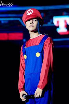 It's red Luigi! Haha, jk, sorry Choi Seung Hyun, Cnblue Jung Yong Hwa, Ji Yong, Lee Jong Suk, Seungri, Gd Bigbang, Bigbang G Dragon, G Dragon Cute, G Dragon Top