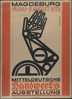 "Johannes Molzahn for the ""Middle German Handicrafts Exhibition"" in 1925"