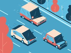Ride-share the Road by Down the Street Designs #Design Popular #Dribbble #shots