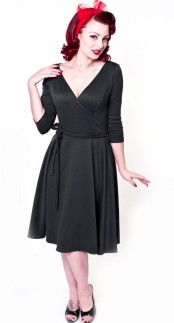 Heart of Haute Donna Dress in Black Blame Betty