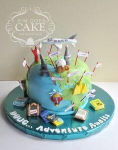 Exclusive Photo of Birthday Cake Travel . Birthday Cake Travel World Travel Retirement Cake Travel Theme Retirement Cake For A Image Birthday Cake, Birthday Cake With Photo, 18th Birthday Cake, Themed Birthday Cakes, Themed Cakes, Retirement Party Cakes, Retirement Funny, Retirement Quotes, Map Cake