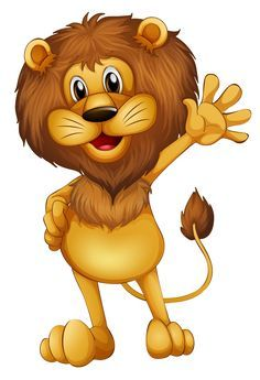 Find Illustration Lion Waving His Hands stock images in HD and millions of other royalty-free stock photos, illustrations and vectors in the Shutterstock collection. Jungle Animals, Baby Animals, Cute Animals, Jungle Lion, Cartoon Lion, Cute Cartoon, Animals Images, Animal Pictures, Safari Png