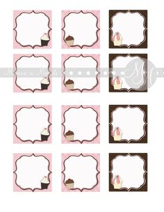Bake Sale Tags 2 inches square.