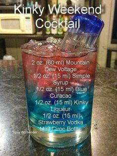 Kinky Weekend Cocktail – For more delicious recipes and drinks, visit us here: www.tipsybartende… alcohol recipes Kinky Weekend Cocktail – For more delicious recipes and drinks, visit us here: www. Bartender Drinks, Liquor Drinks, Bartender Recipes, Mixed Drinks Alcohol, Alcohol Drink Recipes, Mixed Alcoholic Drinks, Cocktails, Cocktail Drinks, Alcholic Drinks