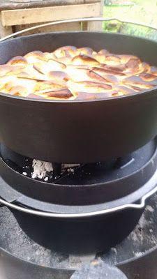 Ollis Grillabenteuer: Apfelkuchen aus dem Ft 6 Dutch Oven