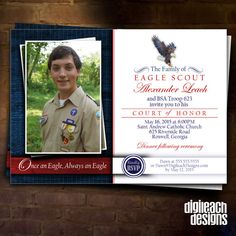 Eagle Scout Court of Honor Invitation: Eagle by DigileachDesigns