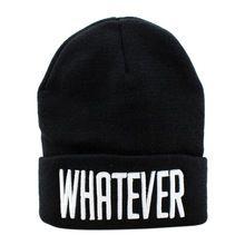 D6li 2016 nova inverno preto e branco seja qual for gorro chapéu e Snapback Cap homens e mulheres frete grátis RV(China (Mainland))