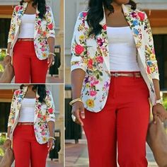 African Ankara jacket styles for the ladies - DarlingNaija African Dresses For Women, African Print Dresses, African Print Fashion, African Fashion Dresses, African Attire, African Wear, Casual Work Outfits, Chic Outfits, Fashion Outfits