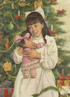 """American Girl Samantha Parkington is delighted when she receives the doll she wanted for Christmas. How did Aunt Cornelia know that she had her heart set on this doll!? From her book """"Samantha's Surprise""""."""
