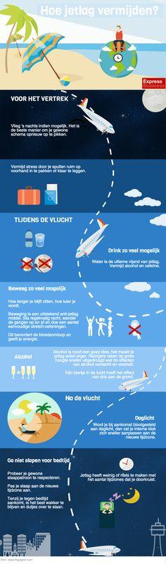 Infographic Hoe jetlag vermijden