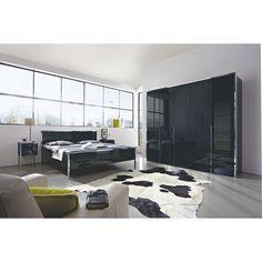 Schlafzimmer von NOVEL in hochglänzendem Schwarz