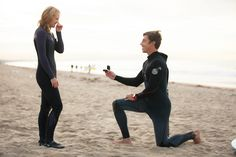 Awesome Surfing Marriage Proposal | Rob and Jessica