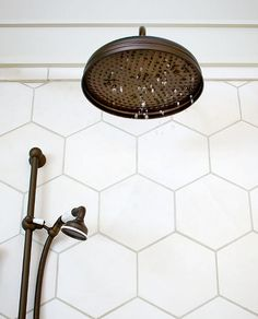 Large format hex in shower