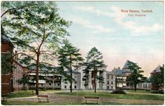 This collection of postcards from the Historical Library features medical institutions in Connecticut: general hospitals, private hospitals, psychiatric hospitals, sanatoria, and the Yale School of Medicine. Most are from the period 1900-1940.
