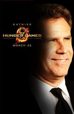 Will Ferrel as Katniss. this probably changed the whole series for me