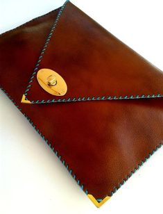 Items similar to Brown leather clutch / Camel leather bag / Women business bag / Leather file folder / Laptop case 15 in on Etsy Braune Leder Clutch / Camel Ledertasche / Large von AnaKoutsi Cow Leather, Leather Clutch, Clutch Bag, Leather Purses, Envelope Clutch, Gold Clutch, Pochette Portable, Bag Women, Leather Bags Handmade