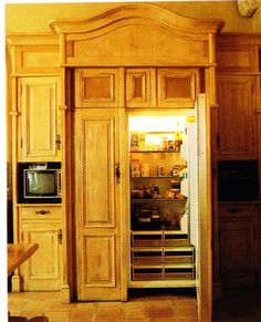 Refrigerator Wood Panels to Match your Cabinets! http://www ...