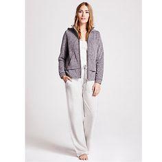 Buy Hygge by Mint Velvet Marl Jersey Pants, Cream, 12 from our Women's Nightwear range at John Lewis & Partners. John Lewis Retail, Wide Leg Trousers, Hygge, Nightwear, Lounge Wear, Joggers, Glamour, Sweatshirts, Tees