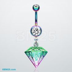 Colorline Urban Iridescent Diamond Belly Button Ring