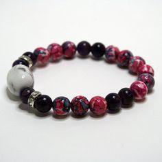 Womens bracelet. Magnesit Amethyst Jasper  by TiiuHandCraft