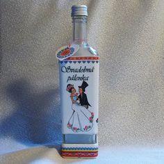 Darčeková fľaša k sobášu Svadobná pálenka