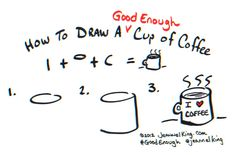 How to draw a good enough cup of coffee!