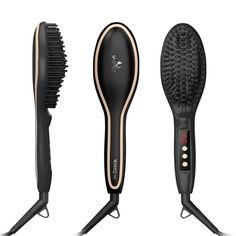 A heated brush that straightens hair in record time.