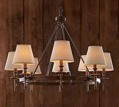 Collins Chandelier - Aged Brass #potterybarn