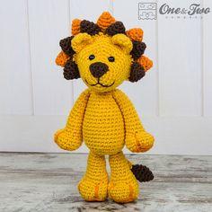 Logan the Lion Amigurumi PDF Crochet Pattern by oneandtwocompany