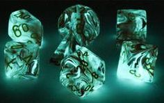 Glow In The Dark Dice For RPG Role Playing Games – Dark Elf Dice