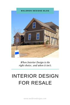 """It is not unusual for a homeowner to reach out to a designer when looking to dress their home up for resale purposes. """"Designed to Sell"""" is a bit of a misnomer because fixes for selling do not require the high-end costs of a degreed professional. What Is Interior Design, Design Process, Staging, Cabin, House Styles, Dress, Things To Sell, Home Decor, Role Play"""