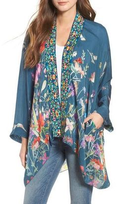 Johnny Was Summer Paisley Silk Kimono