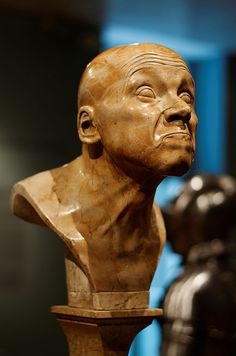 "Franz Xaver Messerschmidt - from 64 ""canonical grimaces"" of the human face, 1770-1783, Belvedere, Vienna"