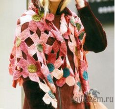 ergahandmade: Crochet Flower Shawl + Diagrams