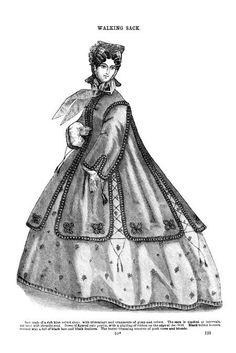 Godey's Lady's Book February 1864 ... walking sack
