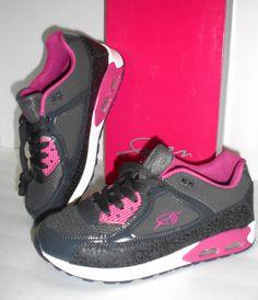 Fubu boys girls boys shoes gray pink size 6 athletic walking sneakers Kale F