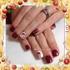 Christmascartonnails#