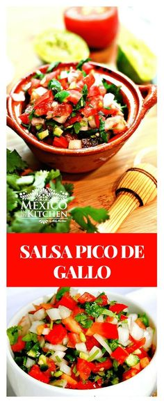 Picode rooster sauce │This is pico de gallo sauce recipe is very popular for meats or roast chicken, Mexican Dishes, Mexican Food Recipes, Ethnic Recipes, Best Dinner Recipes, Great Recipes, Favorite Recipes, Sauce Recipes, Chicken Recipes, Food Dishes