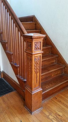 Advanced Stair Systems is the leading supplier of stairs and handrails in the Philadelphia area Wooden Staircase Railing, Rustic Stairs, Stair Railing Design, Home Stairs Design, Stair Handrail, Wooden Stairs, Wooden Front Door Design, House Front Design, Indoor Railing