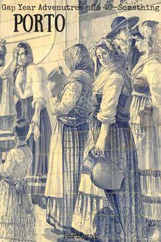Azulejos do Século XIX (Portuguese tiles, nineteenth century) - Portugal Tile Murals, Tile Art, Mosaic Tiles, Portuguese Culture, Portuguese Tiles, Portuguese Empire, Portugal Travel, Porto Portugal, Delft