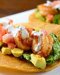 Shrimp Tacos with Cilantro-Lime Sour Cream Recipe