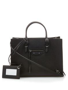Papier A6 grained-leather cross-body bag | Balenciaga | MATCHESFASHION.COM