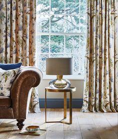 #prestigioustextiles #hampstead #countryliving #homedecor #homeinspo #homeinspiration #fabrics #textiles #softfurnishings #livingroomideas #homeinterior #homeinteriorideas #blue #bluecolourpalette #artsandcrafts #artsandcraftsmovement #britishliving #design #florals #jacobean #curtains #cushions #upholstery Traditional Bedroom, Traditional Design, Cosy Home Decor, Prestigious Textiles, Stunning Wallpapers, Rattan Furniture, Showcase Design, Modern Prints, Soft Furnishings