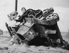 Flipped Polish in Sept Pin by Paolo Marzioli Stuck In The Mud, Armored Fighting Vehicle, Cool Tanks, Ww2 Tanks, Big Guns, Panzer, Armored Vehicles, War Machine, World War I