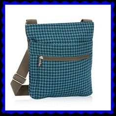 31 Thirty-One 31 Organizing Shoulder Tote Bag - Teal Houndstooth - Shoppers Bag #ThirtyOne #TotesShoppers