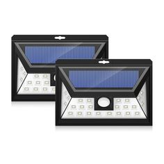 2-Pack Outdoor Solar Powered, Wireless Waterproof Security Motion Sensor Solar Light Wide Angle Sensor with 24 LED Source Light