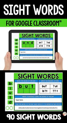 Digital sight words are perfect for the classroom using Google Classroom™ with their students. This resource includes 90 sight words that you can share with your students through Google Classroom™. Primary Classroom, Google Classroom, Classroom Ideas, Sight Word Activities, Teaching French, Word Of The Day, Educational Activities, Sight Words, Teaching Tips