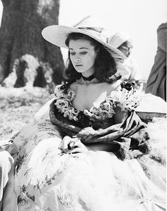 barbarastanwyck:  Vivien Leigh on the set of Gone With the Wind